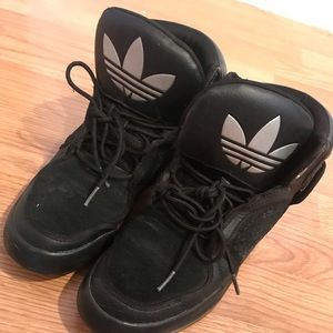 Adidas high top black sneakers
